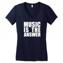 music is the answer Women's V-Neck T-Shirt | Artistshot