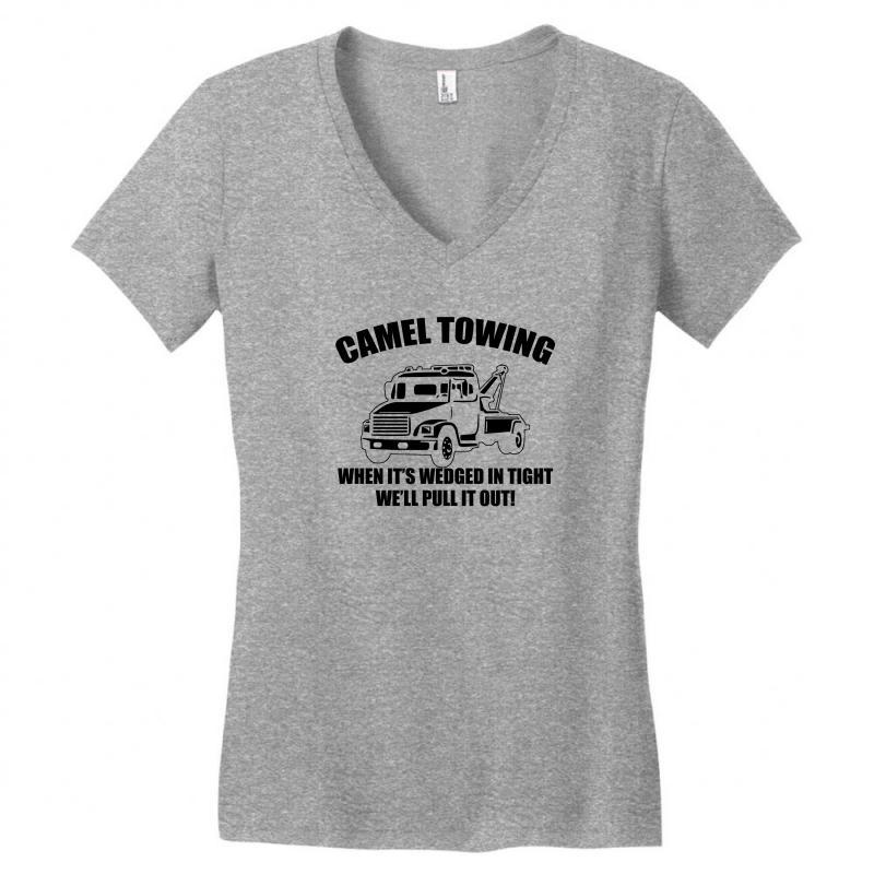 2de8c06d camel towing mens t shirt tee funny tshirt tow service toe college humor  cool Women's V-Neck T-Shirt