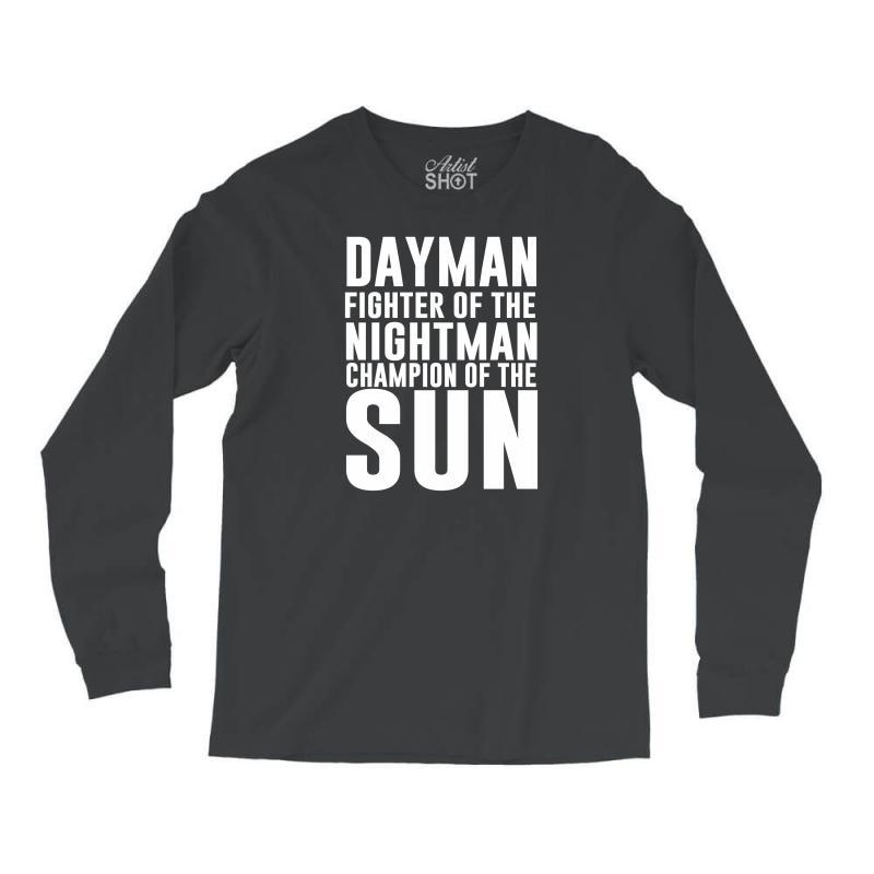 bcb1e410 Custom Dayman Fighter Of The Nightman Long Sleeve Shirts By ...