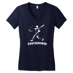 touchdown   funny sports Women's V-Neck T-Shirt   Artistshot