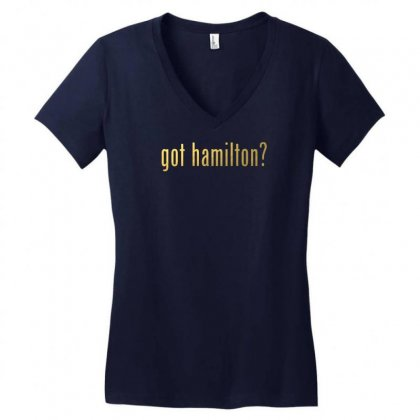 Got Hamilton? Women's V-neck T-shirt Designed By Vr46
