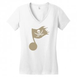 music pirate Women's V-Neck T-Shirt | Artistshot