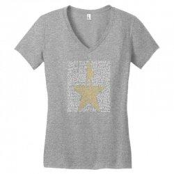 Hamilton Typography Women's V-Neck T-Shirt | Artistshot
