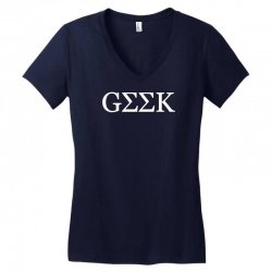 geek greek Women's V-Neck T-Shirt   Artistshot