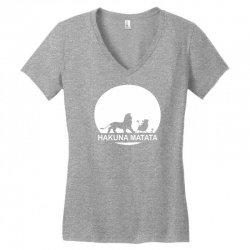 80a772aad Custom Disney Lion King Hakuna Matata Women's V-neck T-shirt By ...