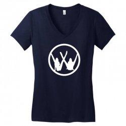 vw strip logo Women's V-Neck T-Shirt   Artistshot