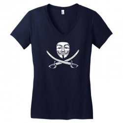 mask of modern mutiny Women's V-Neck T-Shirt   Artistshot