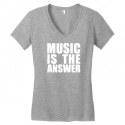music is the answer printed Women's V-Neck T-Shirt | Artistshot