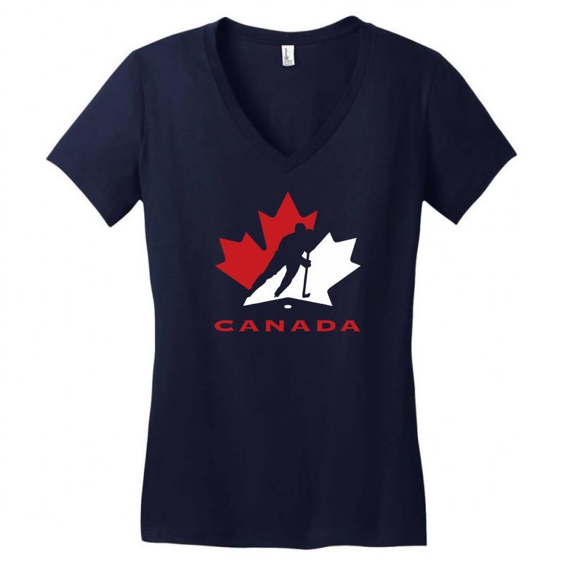 Hockey Canada Women's V-neck T-shirt | Artistshot