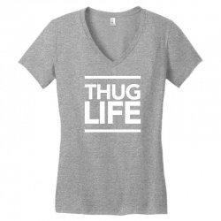thug life Women's V-Neck T-Shirt   Artistshot
