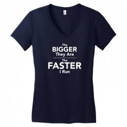 the bigger they are the faster Women's V-Neck T-Shirt | Artistshot