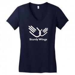 sturdy wings Women's V-Neck T-Shirt | Artistshot