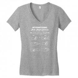 rock paper scissor international Women's V-Neck T-Shirt | Artistshot