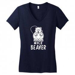 nice beaver Women's V-Neck T-Shirt | Artistshot