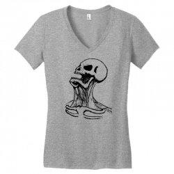 screaming skull Women's V-Neck T-Shirt | Artistshot