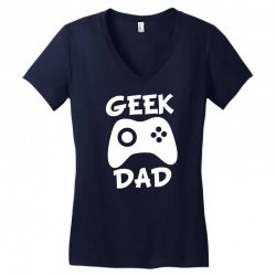 geek dad Women's V-Neck T-Shirt | Artistshot