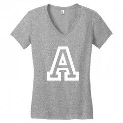 A Initial Name Women's V-Neck T-Shirt   Artistshot