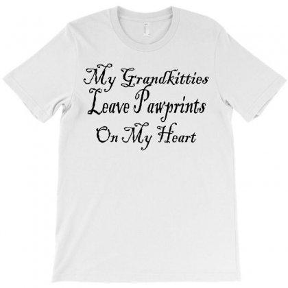 Grandkitties Pawprints T-shirt Designed By Megaagustina