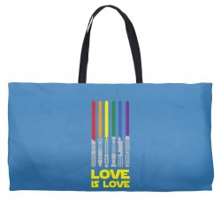 Lightsaber Rainbow - Love Is Love Weekender Totes | Artistshot