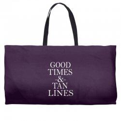 good times and tan lines Weekender Totes | Artistshot