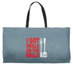 got skills on the grills apron Weekender Totes | Artistshot