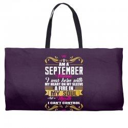 i am a September women Weekender Totes | Artistshot