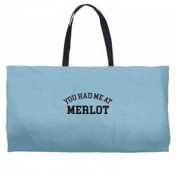 you had me at merlot Weekender Totes | Artistshot