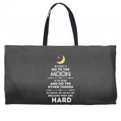 We Choose to Go to The Moon Weekender Totes | Artistshot