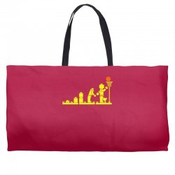 evolution lego basketball sports funny Weekender Totes | Artistshot