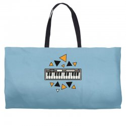 music,keyboard,electronic,piano,triangle,reflections,cute,vectorart, Weekender Totes | Artistshot