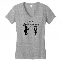 love at first high Women's V-Neck T-Shirt   Artistshot
