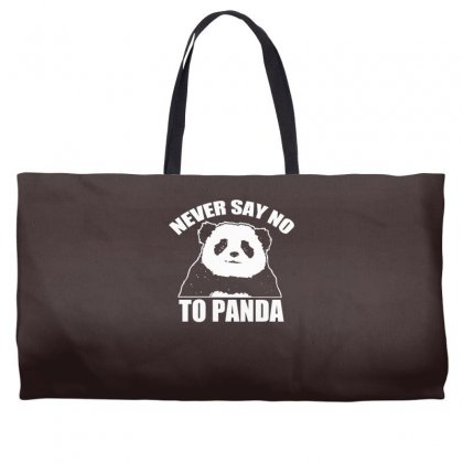 Never Say No To Panda Weekender Totes Designed By Specstore