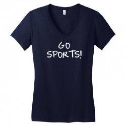 go sports! Women's V-Neck T-Shirt   Artistshot