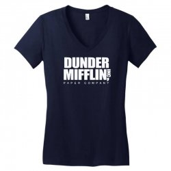 dunder mifflin Women's V-Neck T-Shirt | Artistshot