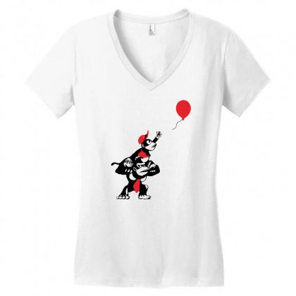 Balloon Apes Women's V-neck T-shirt Designed By Marla_arts