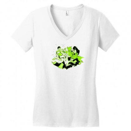 Art Attack Women's V-neck T-shirt Designed By Marla_arts