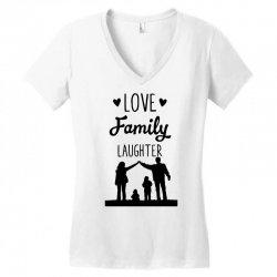 love family laughter Women's V-Neck T-Shirt   Artistshot
