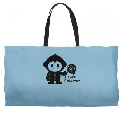 Monkeystein And Lollipop Weekender Totes Designed By Specstore