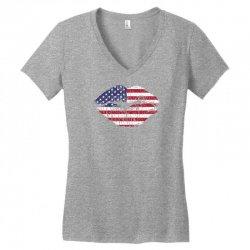 usa kiss Women's V-Neck T-Shirt | Artistshot