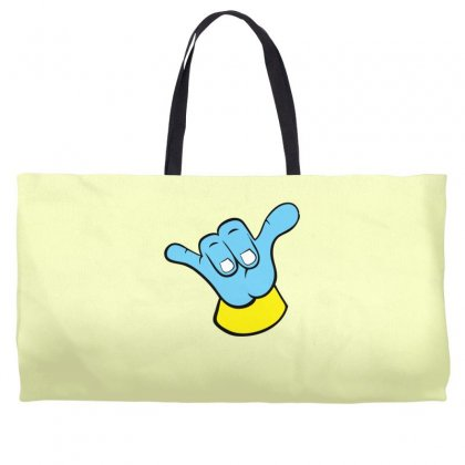 Hang Loose Big Blue Weekender Totes Designed By Specstore
