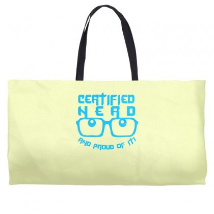Certified Nerd Weekender Totes Designed By Specstore