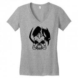 music skull Women's V-Neck T-Shirt | Artistshot