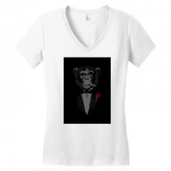 Monkey Busniseman Women's V-Neck T-Shirt | Artistshot