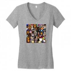 Monkey Women's V-Neck T-Shirt | Artistshot