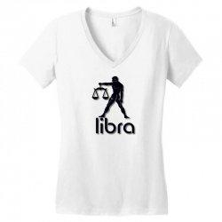libra Women's V-Neck T-Shirt   Artistshot