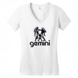 gemini Women's V-Neck T-Shirt | Artistshot