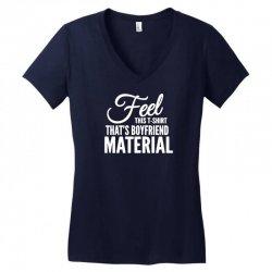 funny tshirts   i love it when my boyfriend Women's V-Neck T-Shirt | Artistshot