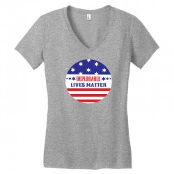 Deplorable Lives Matter Women's V-Neck T-Shirt | Artistshot