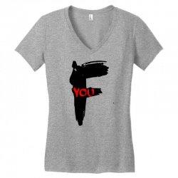funny mens t shir 'f'yout Women's V-Neck T-Shirt | Artistshot