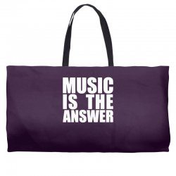 music is the answer Weekender Totes | Artistshot